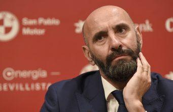 Monchi durante la presentación de Jordán y Diego Carlos. Imagen: Sevilla FC